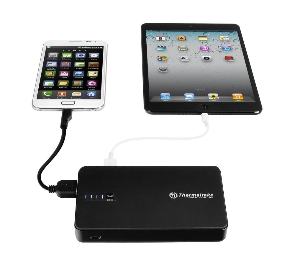 Thermaltake 8400mAh Portable Power Pack is designed for the current modern mobile age