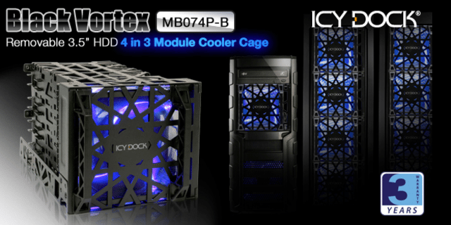 ICY DOCK Black Vortex MB074SP-B