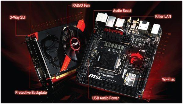 MSI Z87I GAMING AC и видеокарта GTX760 GAMING ITX
