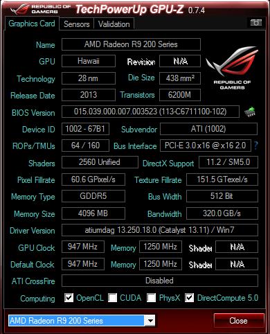 Sapphire Radeon R9 290 4 GB GDDR5