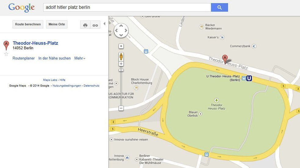 Google Maps screengrab: Theodor-Heuss-Platz