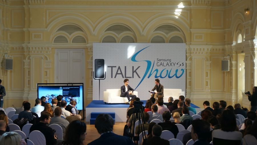 Презентация смартфона Samsung Galaxy S5 в Москве