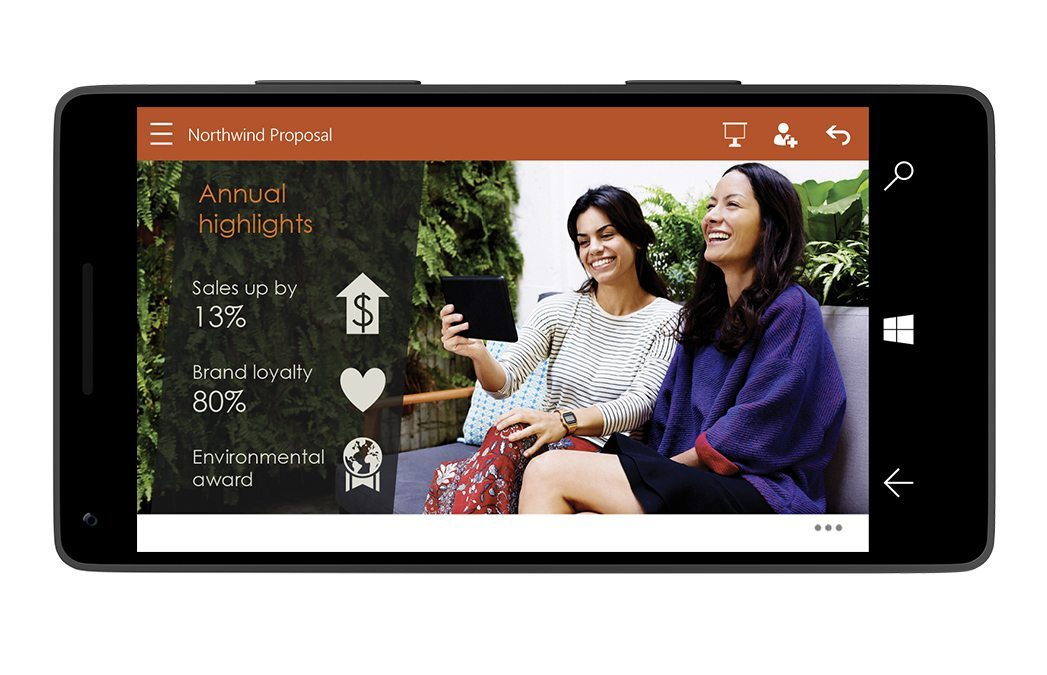 PowerPoint-for-Windows-10-on-smartphone