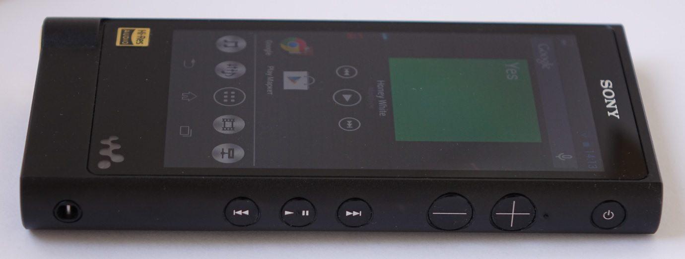 Sony Walkman NW-ZX2 side