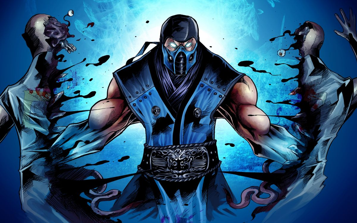 Mortal-Kombat-X-Sub-Zero-Ninja-Art-Blue-Mask-WallpapersByte-com-3840x2400