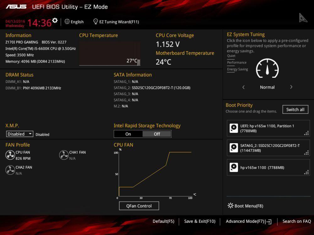 ASUS Z170I Pro Gaming bios