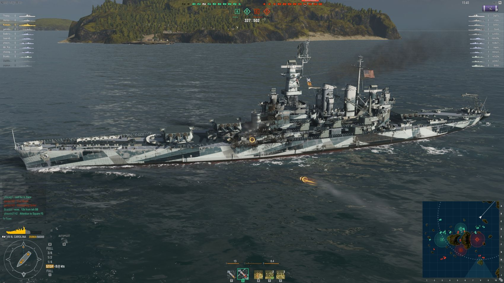 World of Warships North Carolina Late War Scheme
