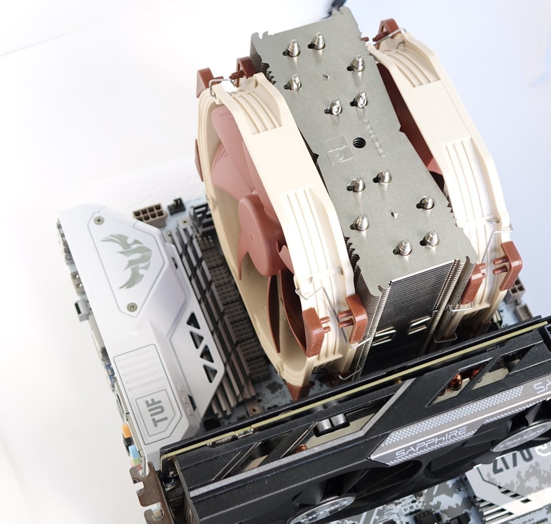 Noctua NH-U14S dual fan on board
