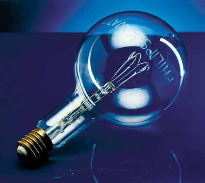 К 1906 году Philips налаживает производство ламп с вольфрамовыми нитями