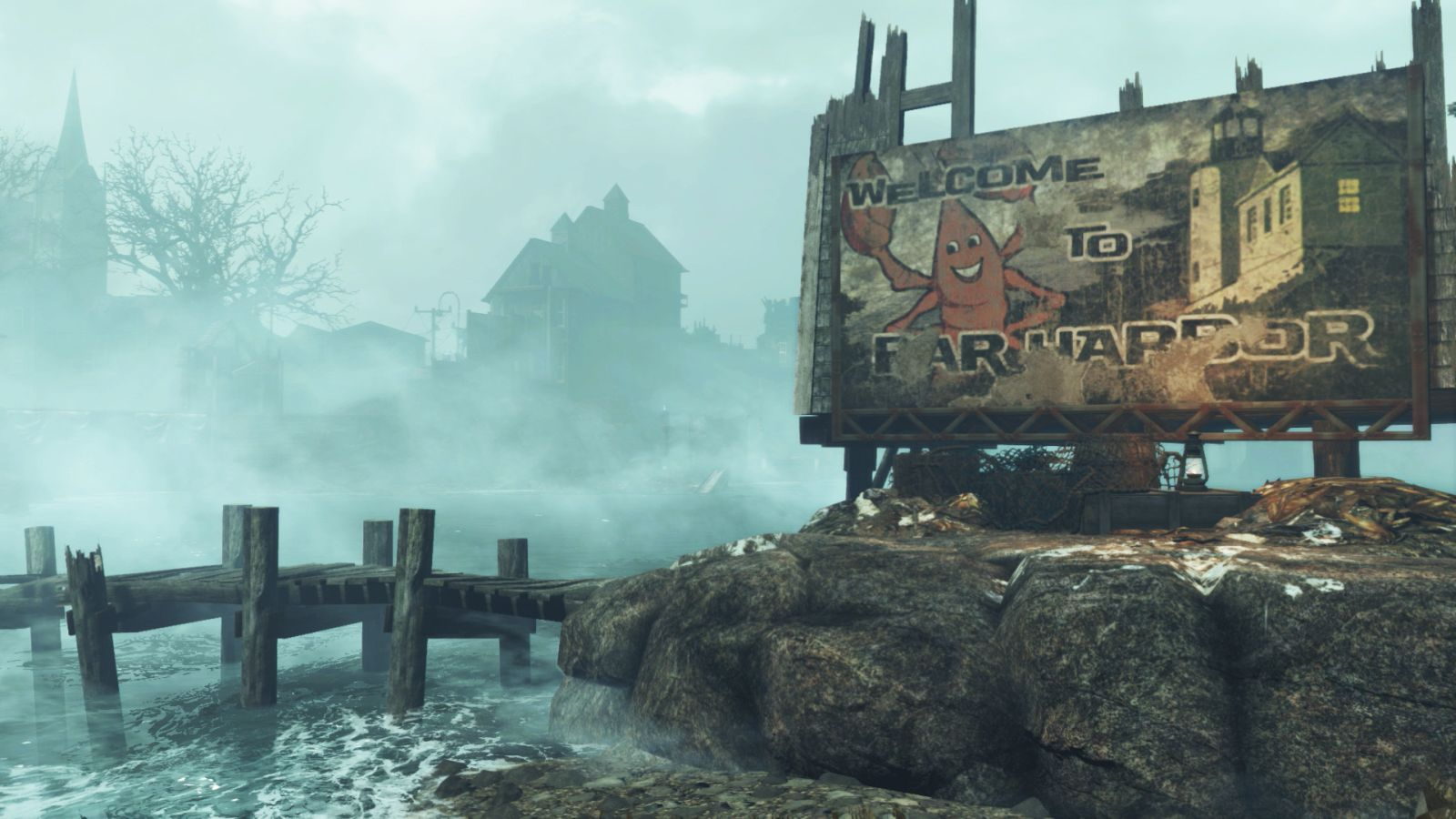 Far Harbor для Fallout 4 Welcome Sign