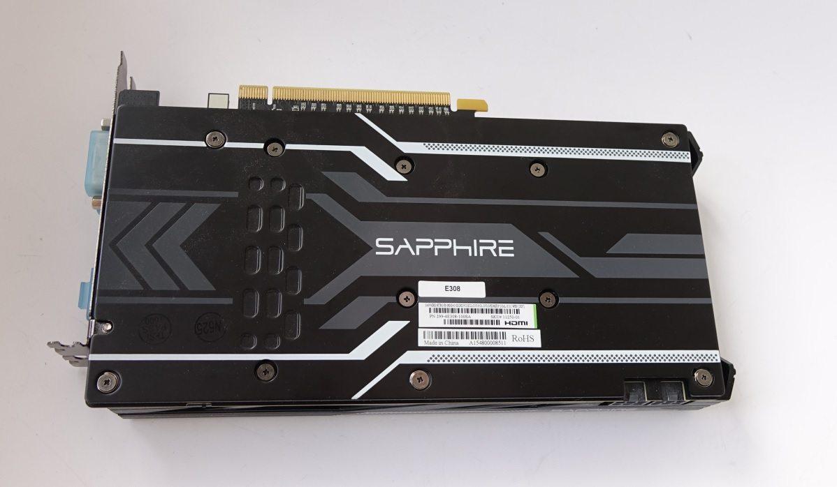 Sapphire Nitro R9 380X back plate