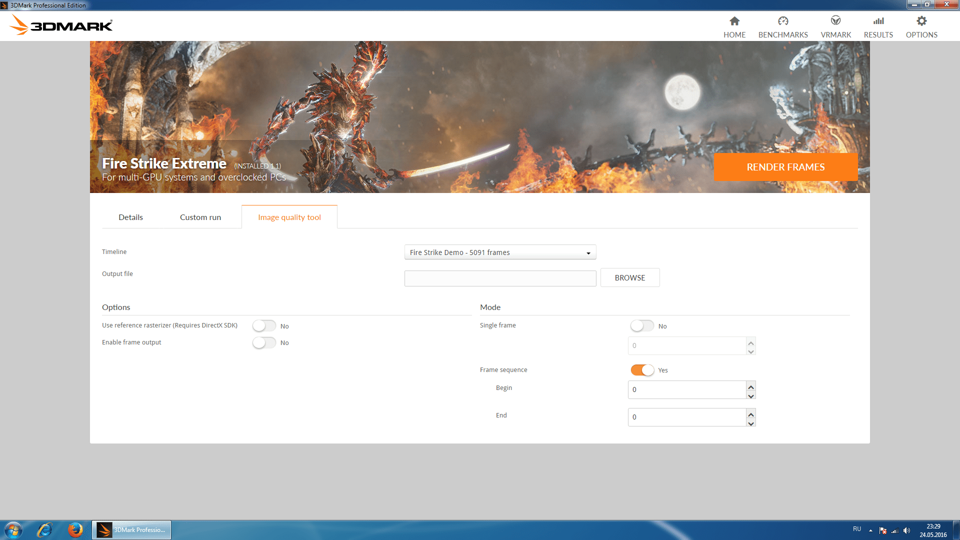 3dmark test options