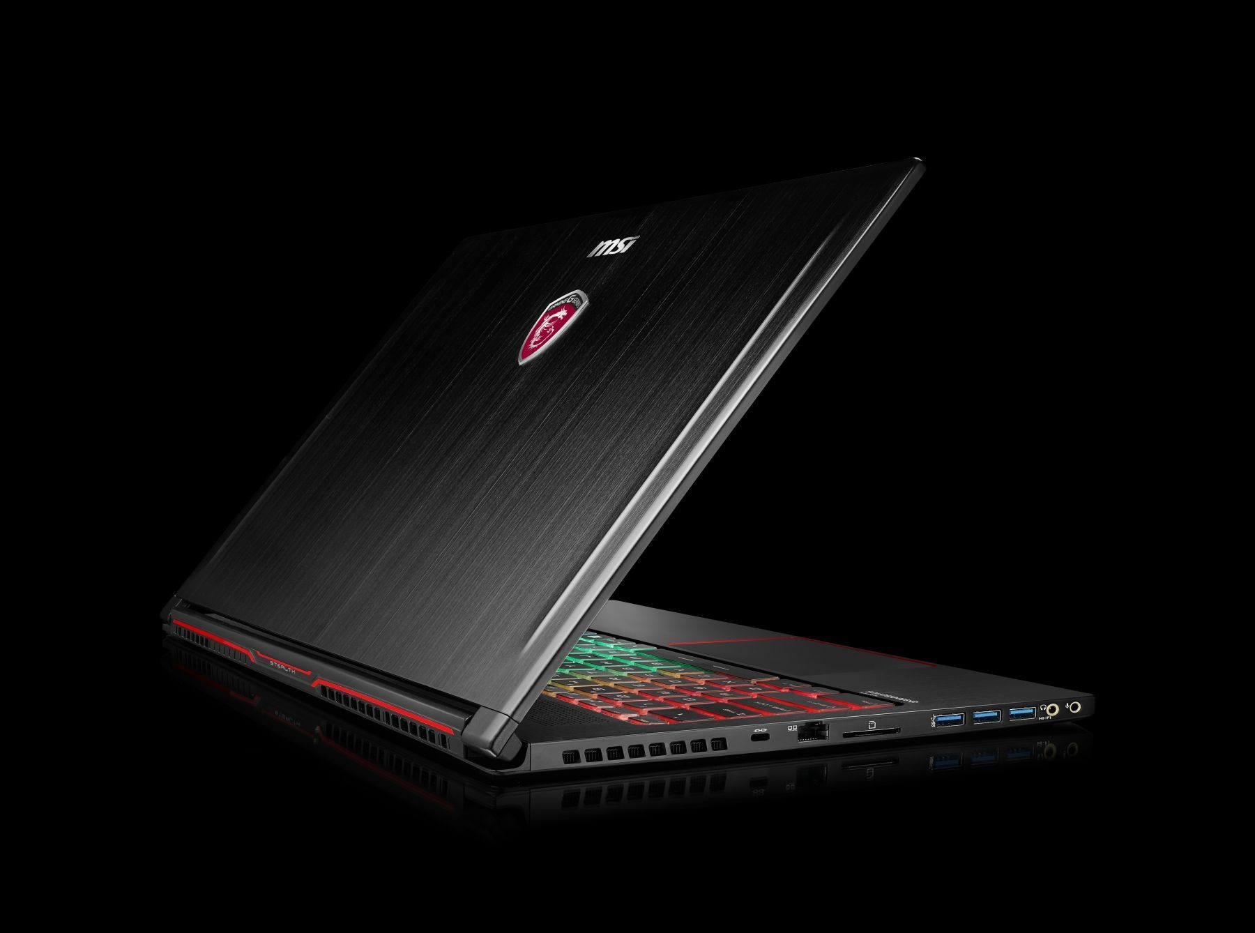 Ноутбук MSI GS63 7RD-064RU 9S7-16K412-064 (Intel Core i7-7700HQ 2.8 GHz/16384Mb/256Gb SSD/No ODD/nVidia GeForce GTX 1050 2048Mb/Wi-Fi/Bluetooth/Cam/15.6/1920x1080/Windows 10 64-bit)