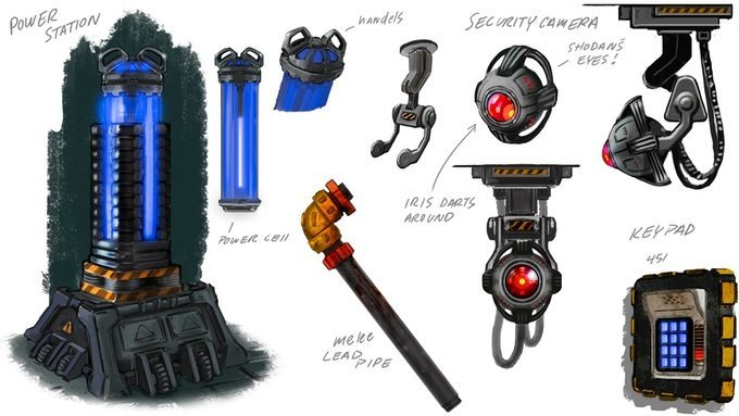 System Shock items