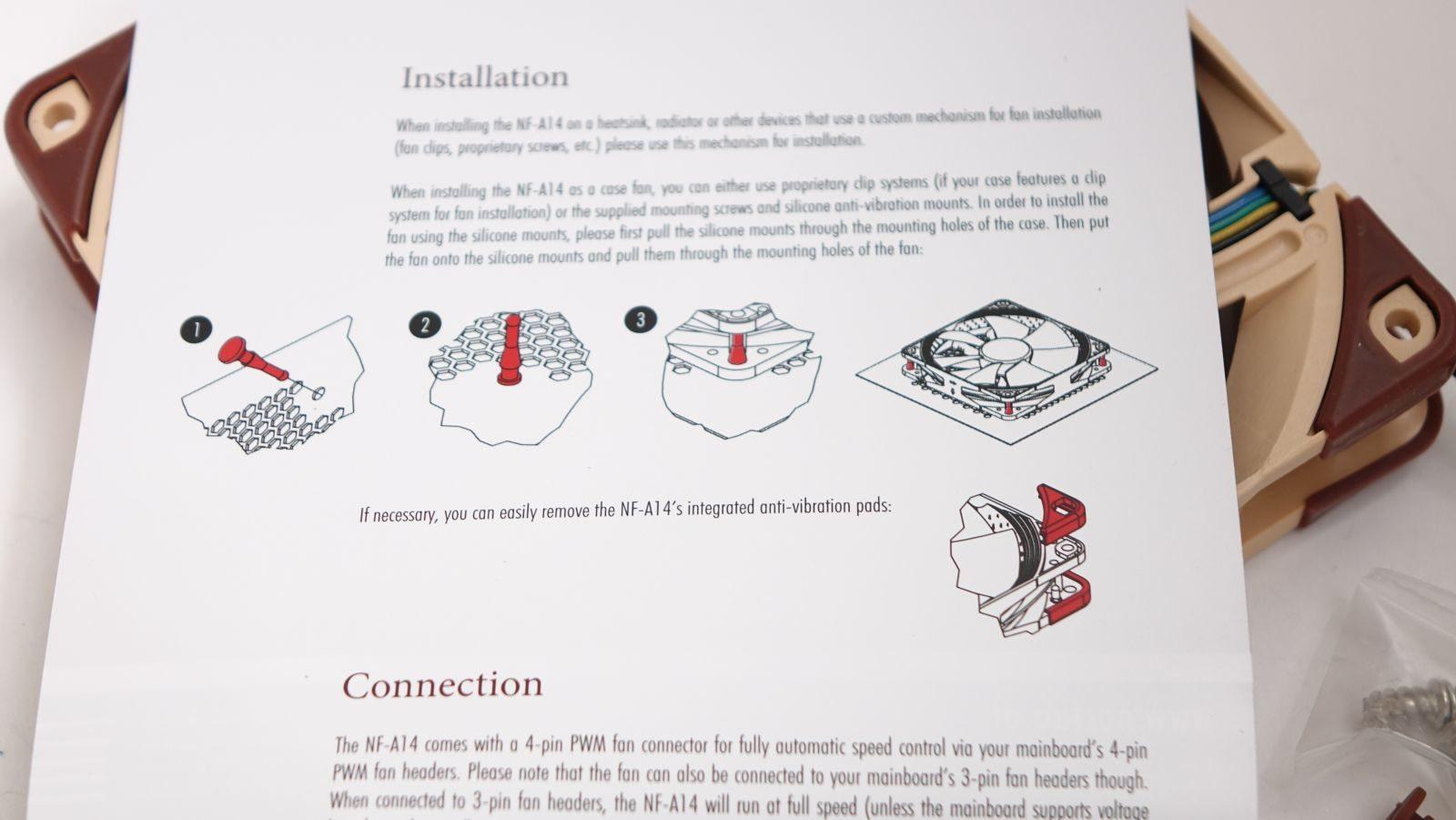 Noctua NF-A14 PWM конструкция