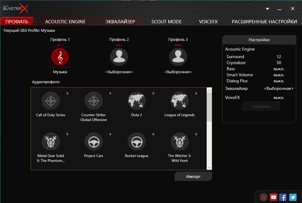Готовые игровые профили