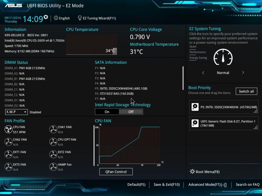 UEFI BIOS asus x99 deluxe