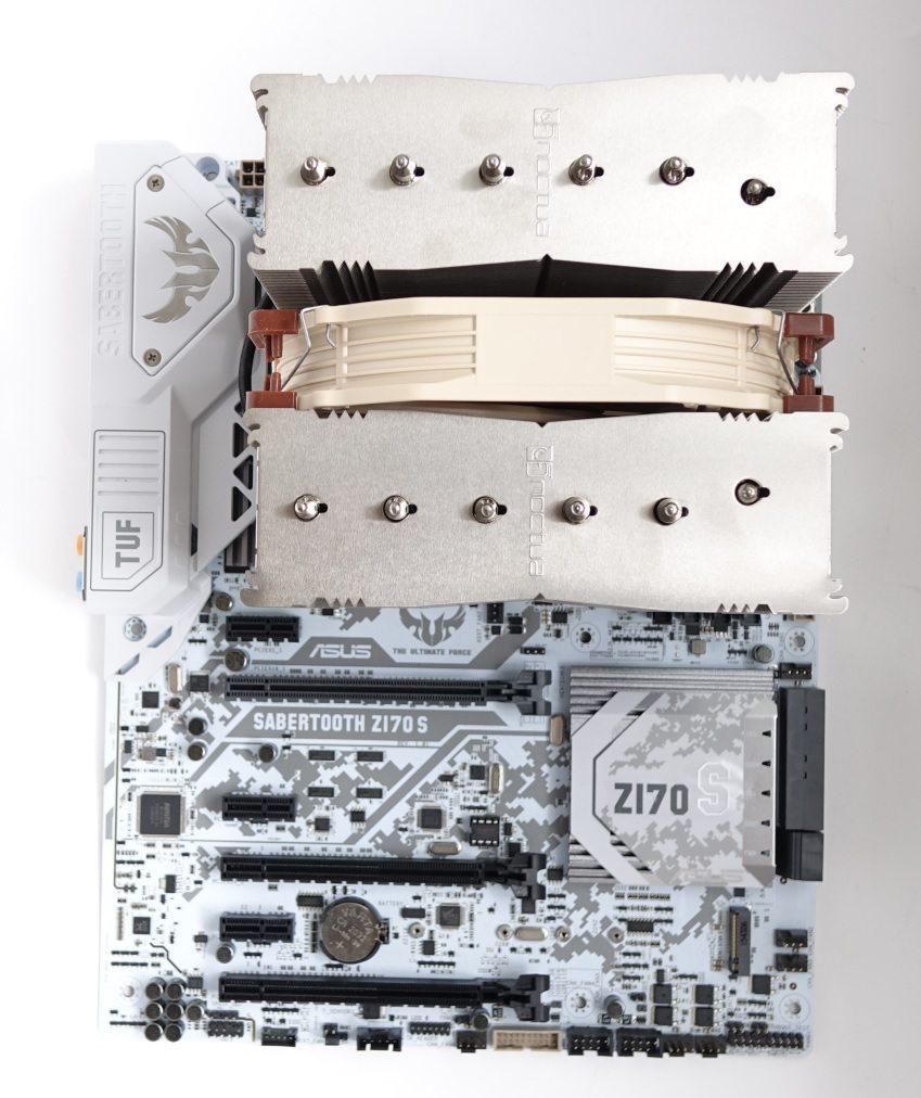 Noctua NH-D15S на плате с одним вентилятором