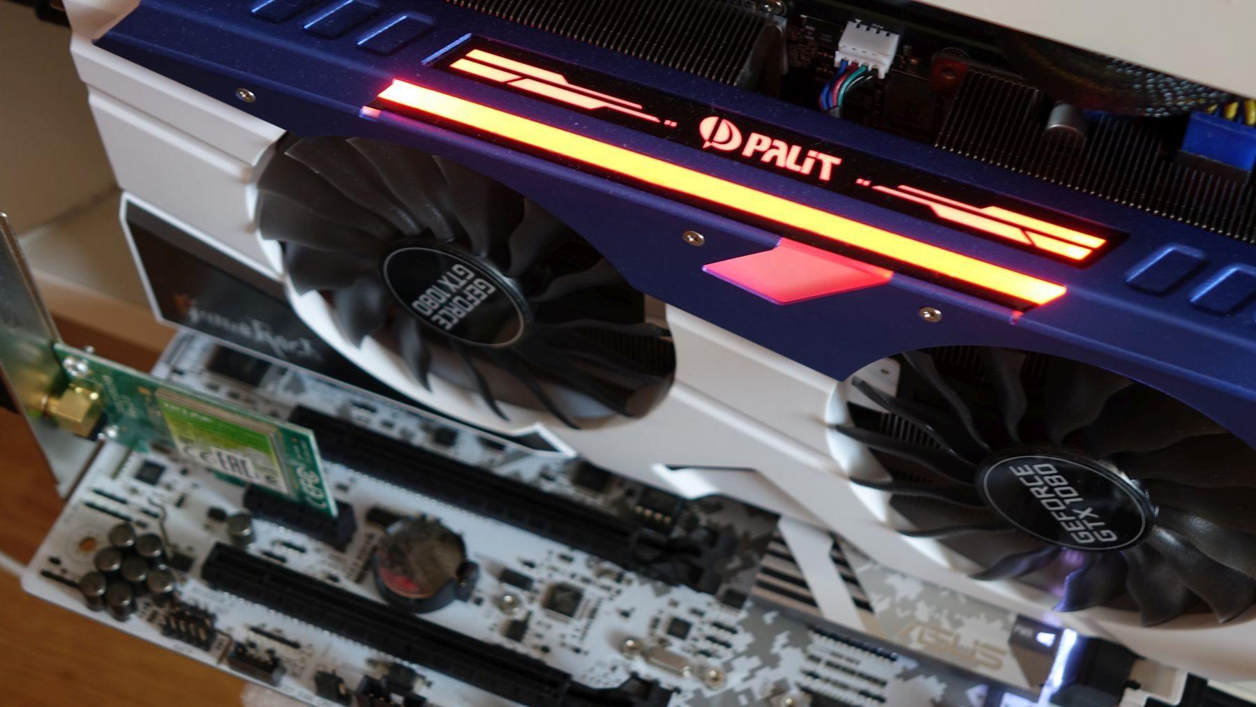 Palit GeForce GTX 1080 GameRock red rgb