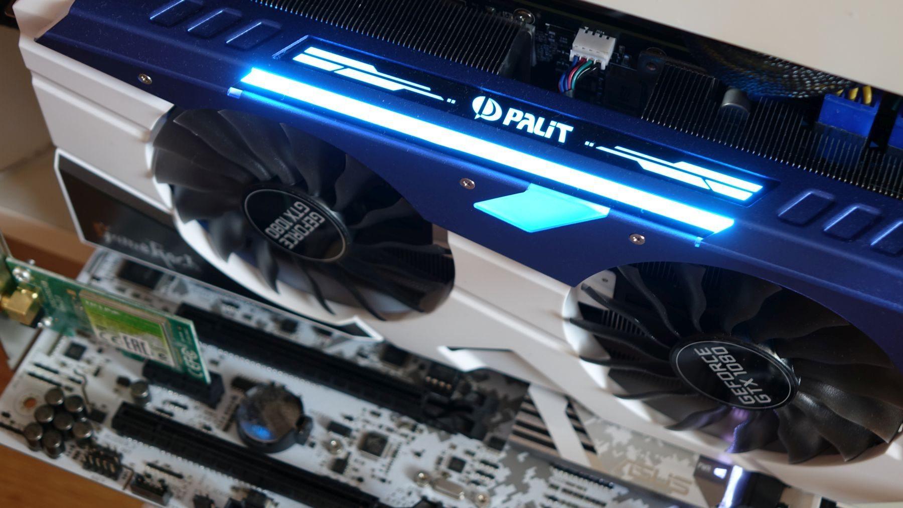 Palit GeForce GTX 1080 GameRock blue rgb