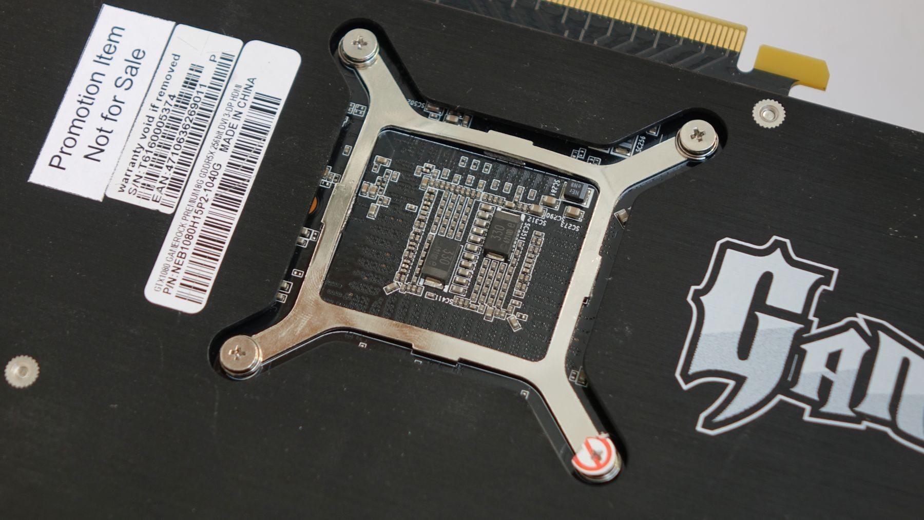 Palit GeForce GTX 1080 GameRock Premium Edition gpu