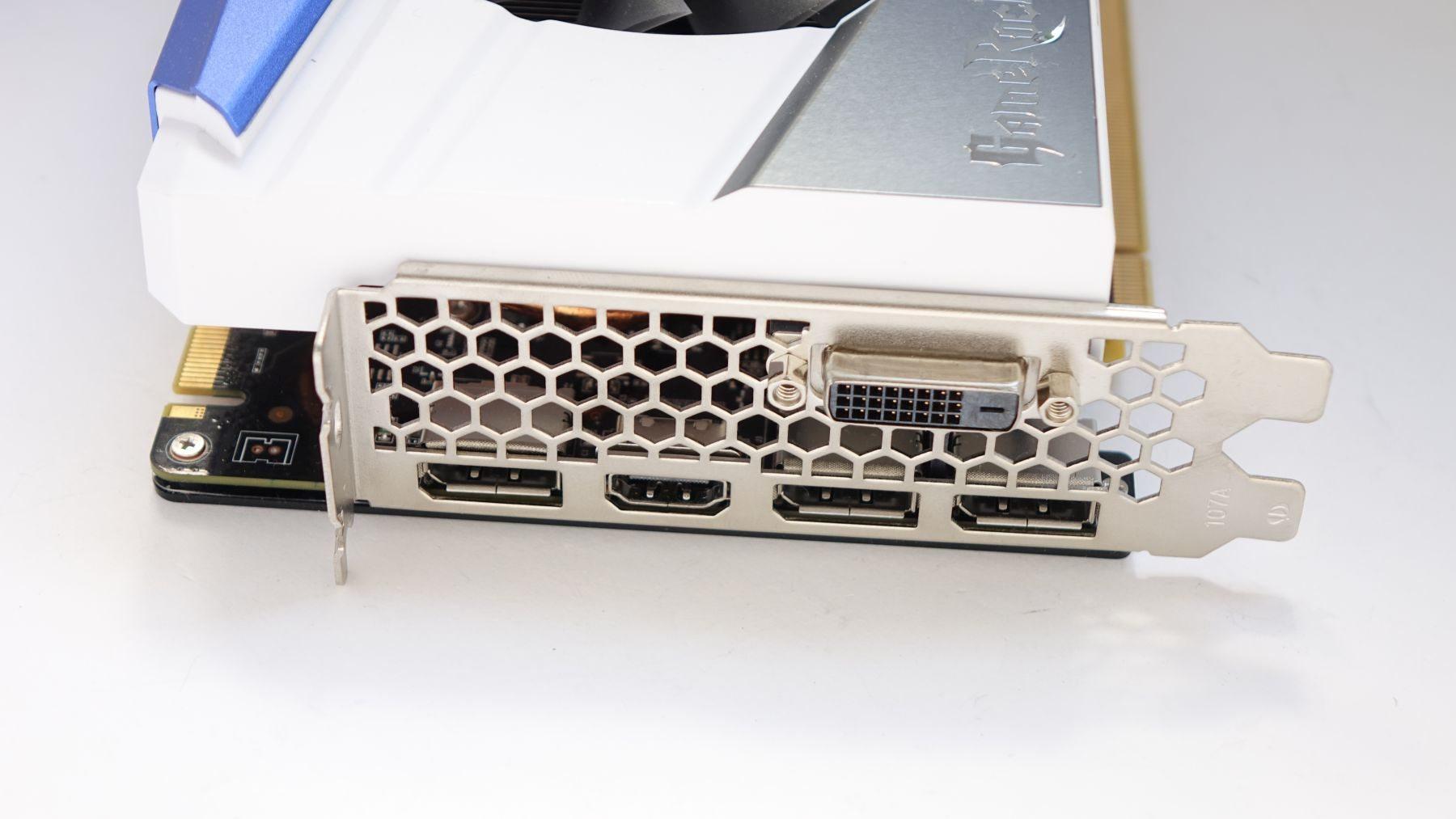Palit GeForce GTX 1080 GameRock Premium Edition ports