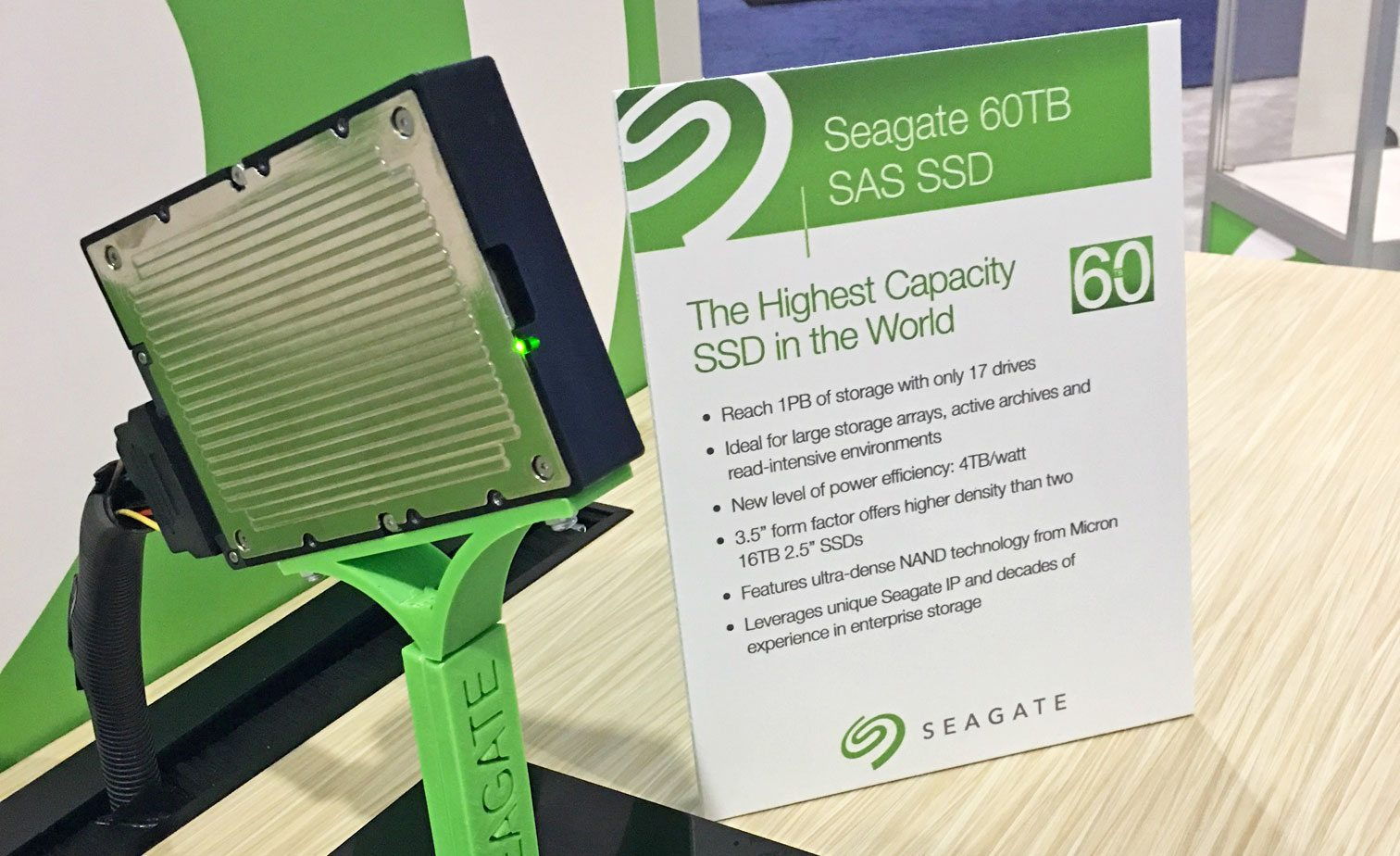 Seagate сделала SSD емкостью 60 Тбайт