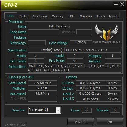xeon 2609 cpu-z
