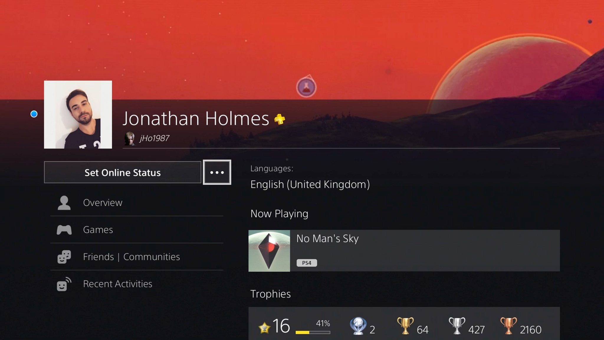 ps4 profile