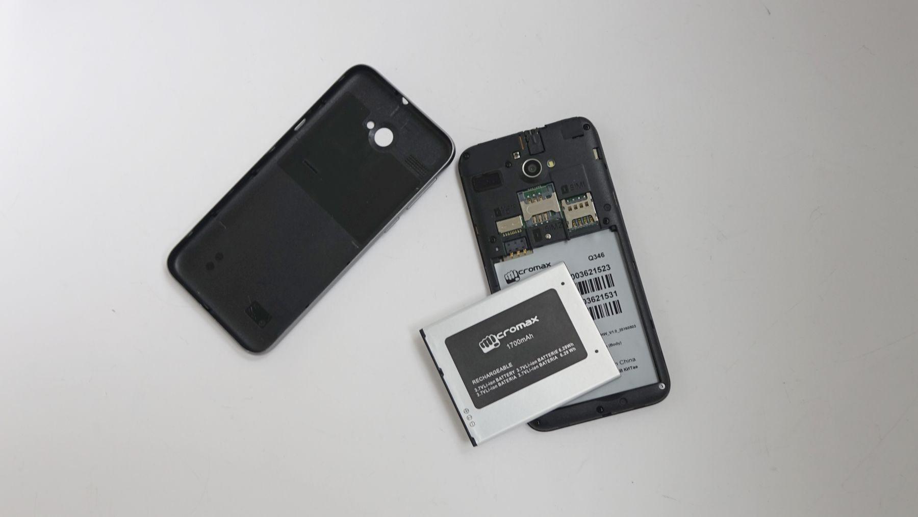 Micromax Bolt Q346 батарея крышка