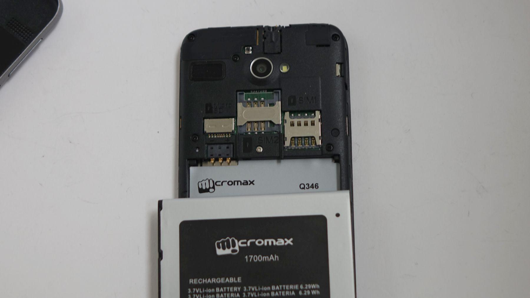 Micromax Bolt Q346 SIM и microSD
