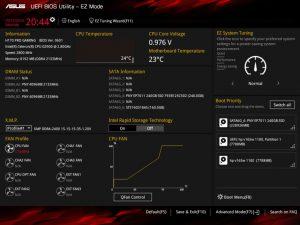 bios ASUS H170 Pro Gaming