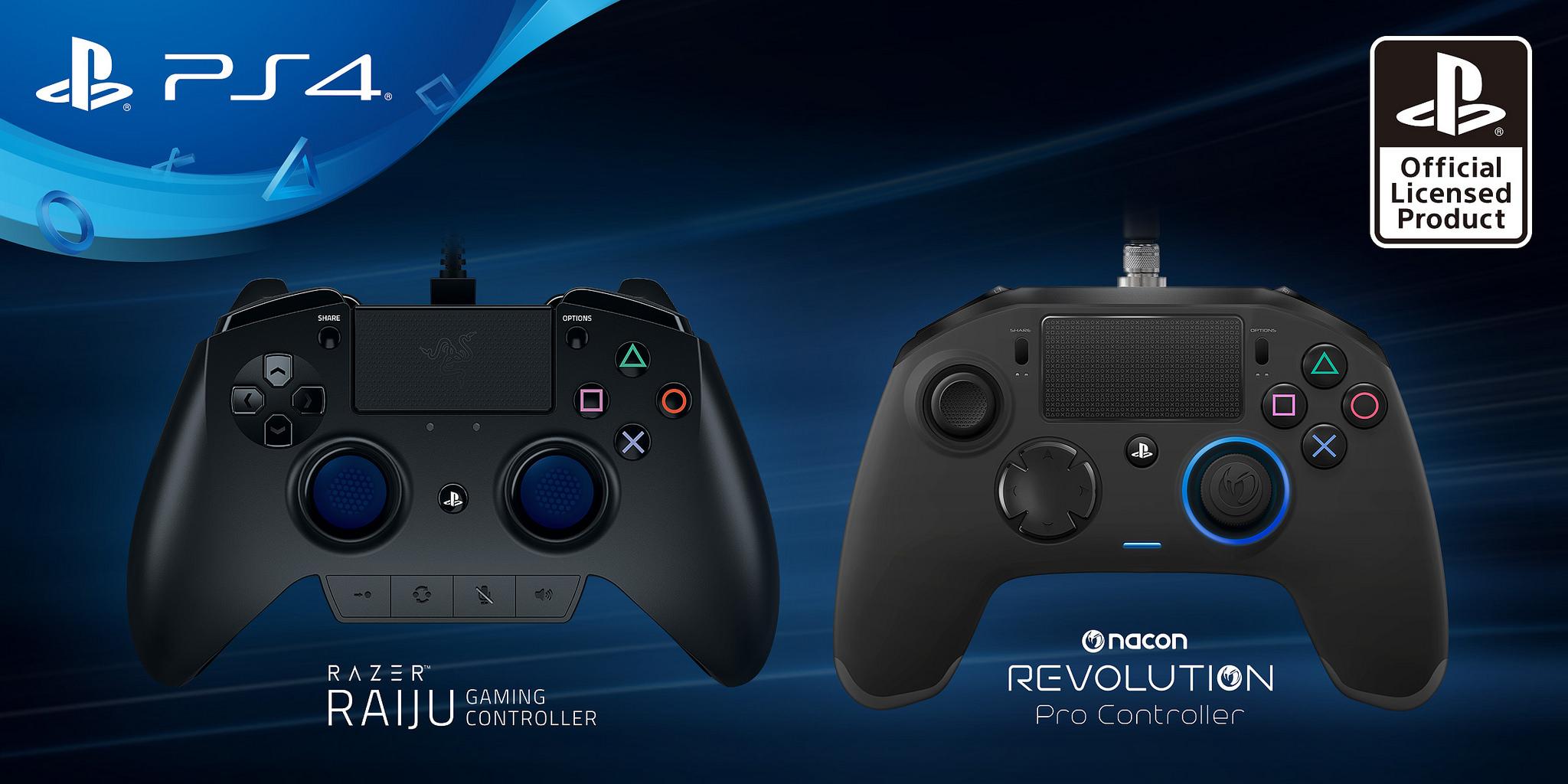 Сони показала контроллеры Razer Raiju иNacon Revolution для PS4