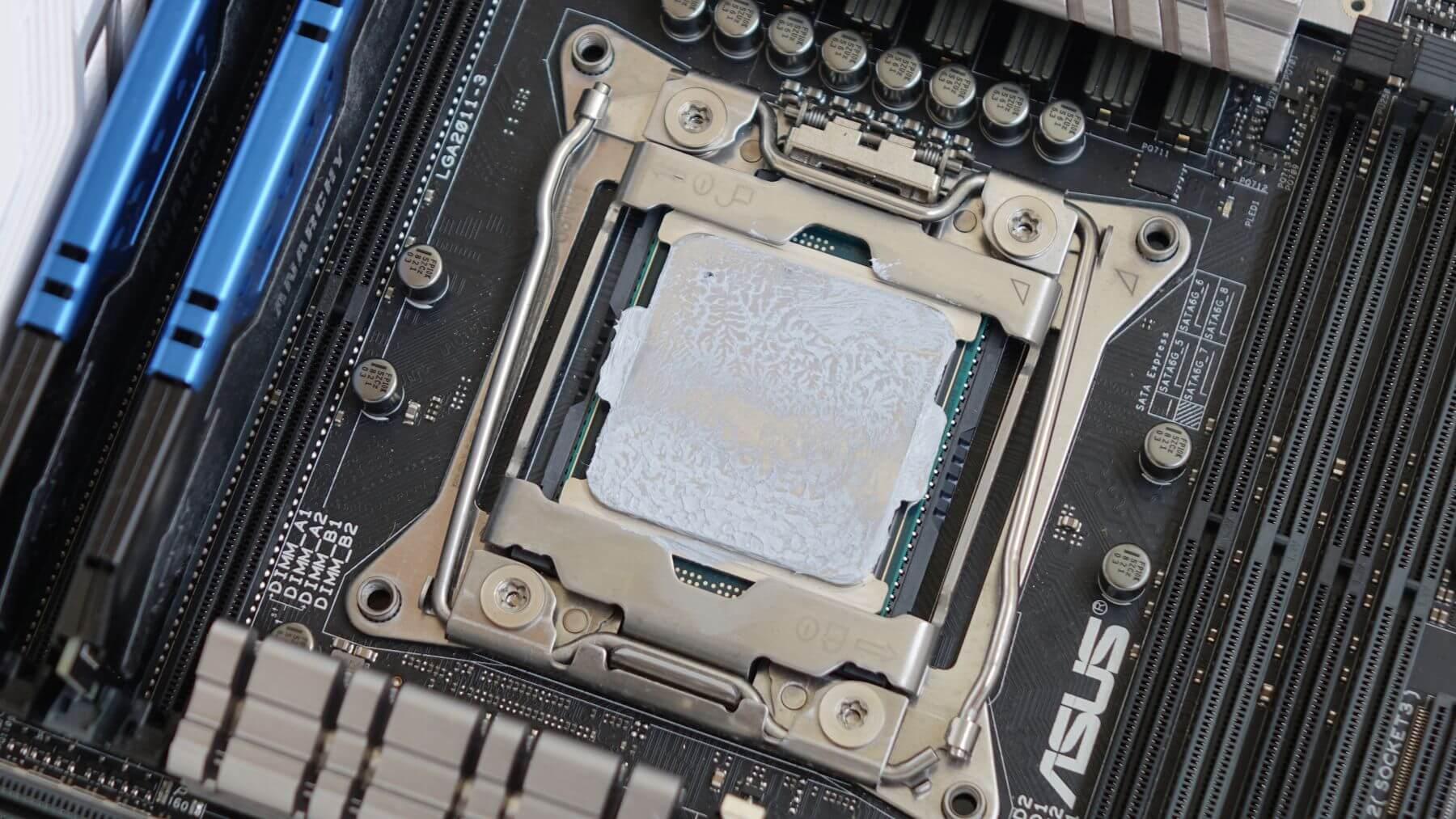 отпечаток пасты на процессоре