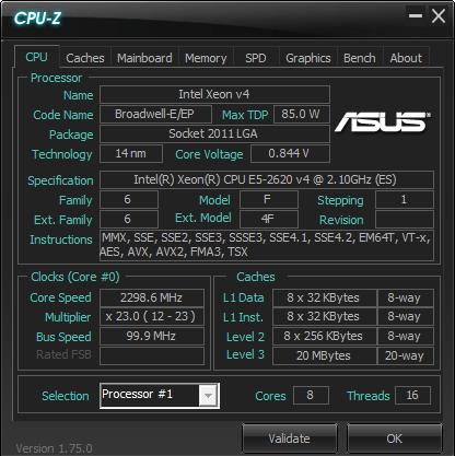 cpu-z 2620v4