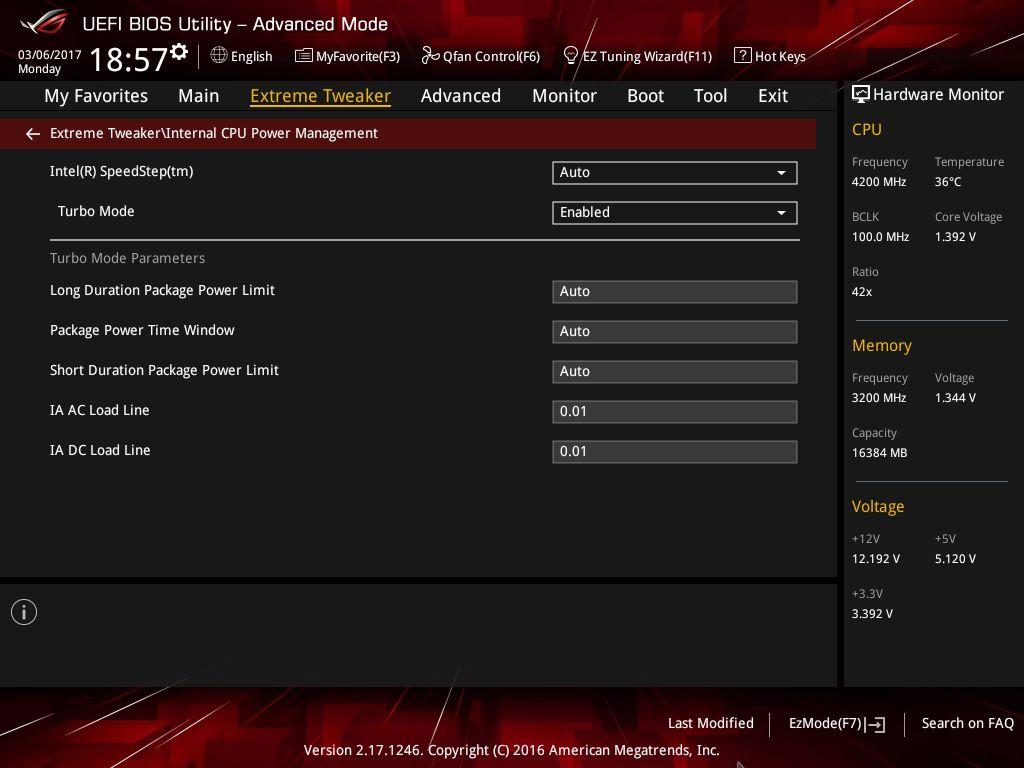 Опции IA AC и IA DC на 0.01