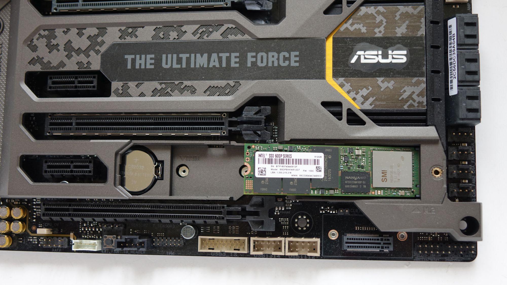 ASUS TUF Z270 Mark 1 и intel ssd 600p
