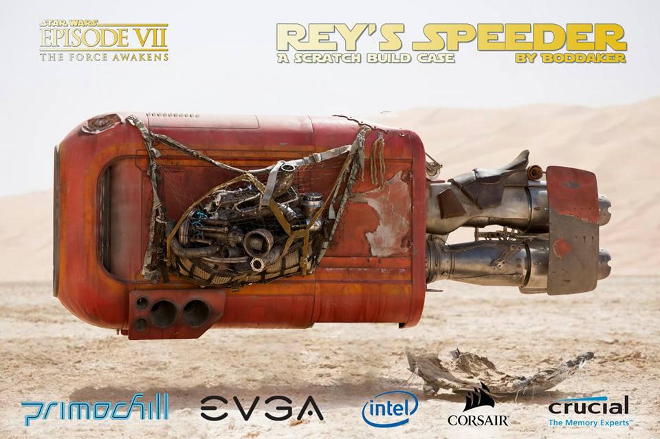 Приколы по Звездным Войнам: Моддинг ПК в корпусе Спидер Рей из Star Wars