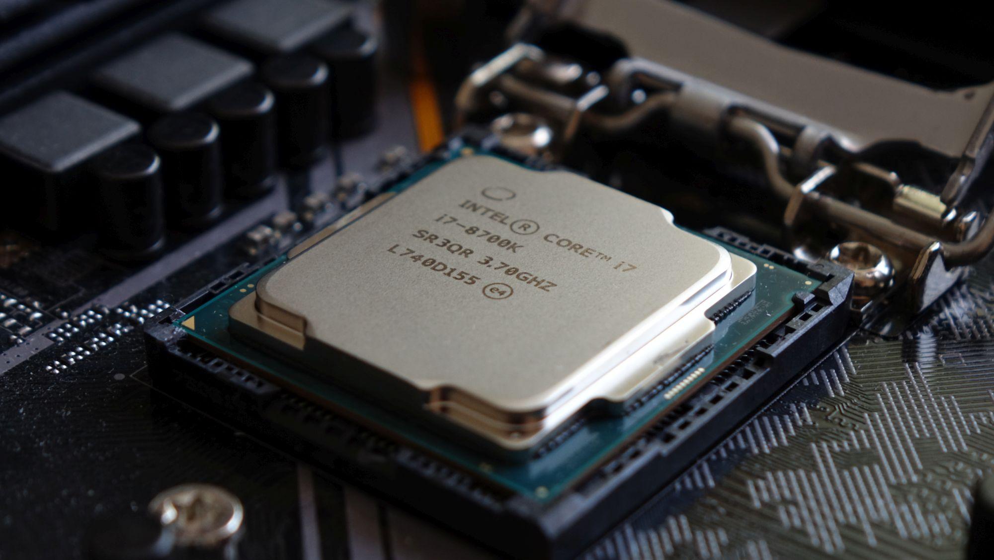 Intel Core i7-8700K крышка
