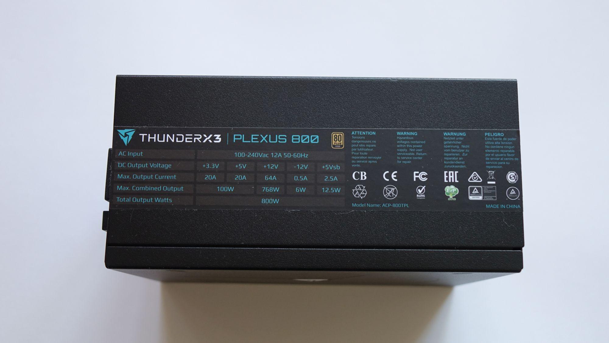 ThunderX3 Plexus 800 наклейка