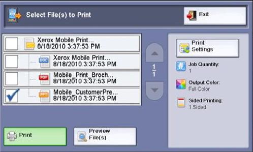 Xerox выпустил решение для мобильной печати – Xerox Mobile
