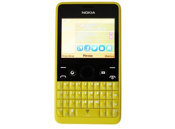 Nokia Asha 210 Dual Sim дисплей
