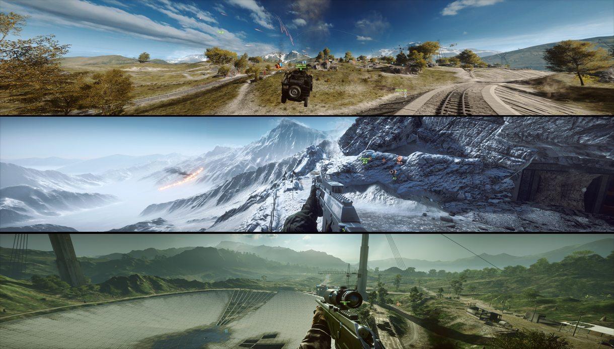 Battlefield 4 в разрешении 7680x1440 пикселей