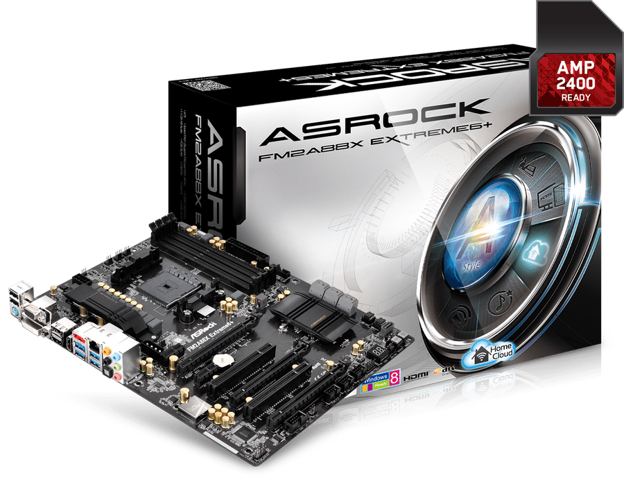 ASRock FM2A88X Extreme6+ with AMP2400