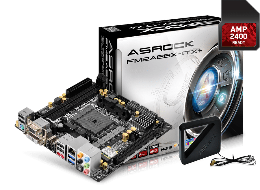 ASRock FM2A88X-ITX+ with AMP 2400