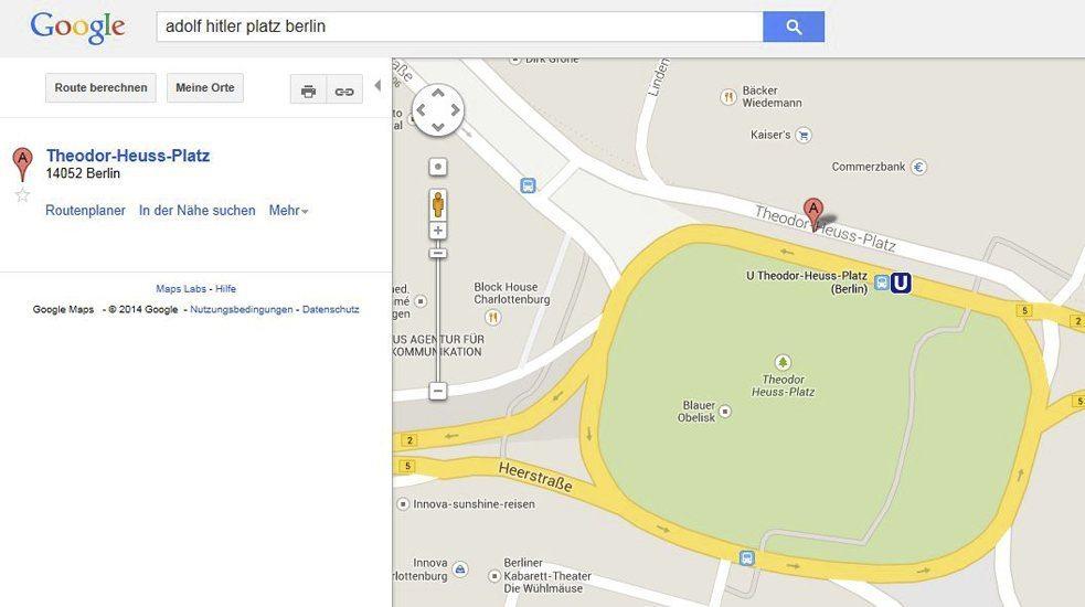 Google Maps screengrab: Theodor-Heuss-Platz