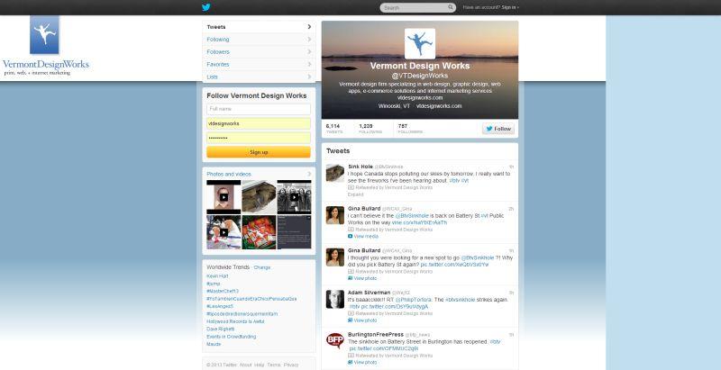 Twitter-Vermont-Design-Works