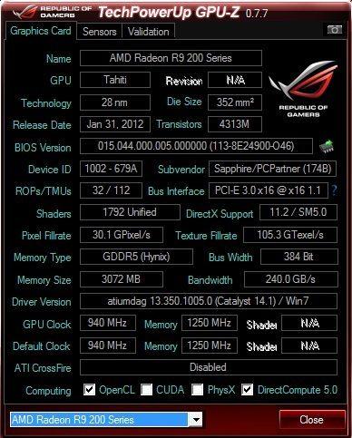 Sapphire DUAL-X R9 280 3GB GDDR5 OC