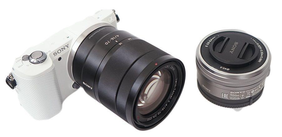 Камера Sony Alpha A5000 и объектив SEL-1670Z