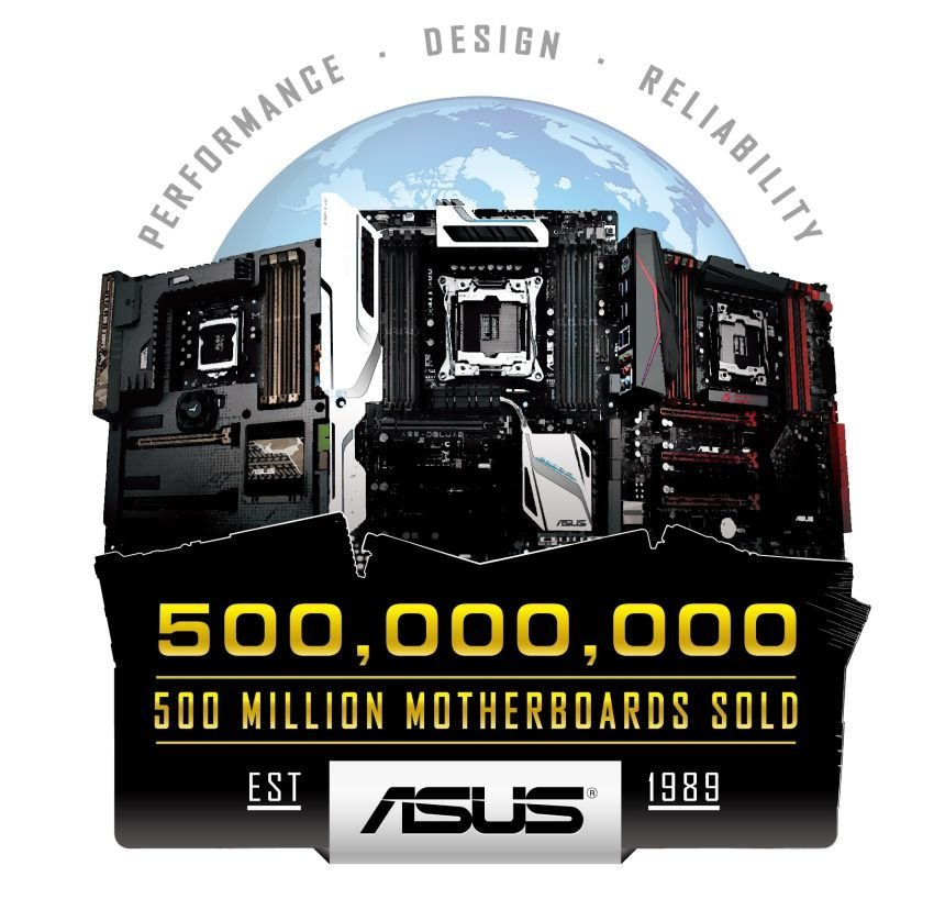 ASUS Celebrates 500 Million Motherboard Sales_Logo